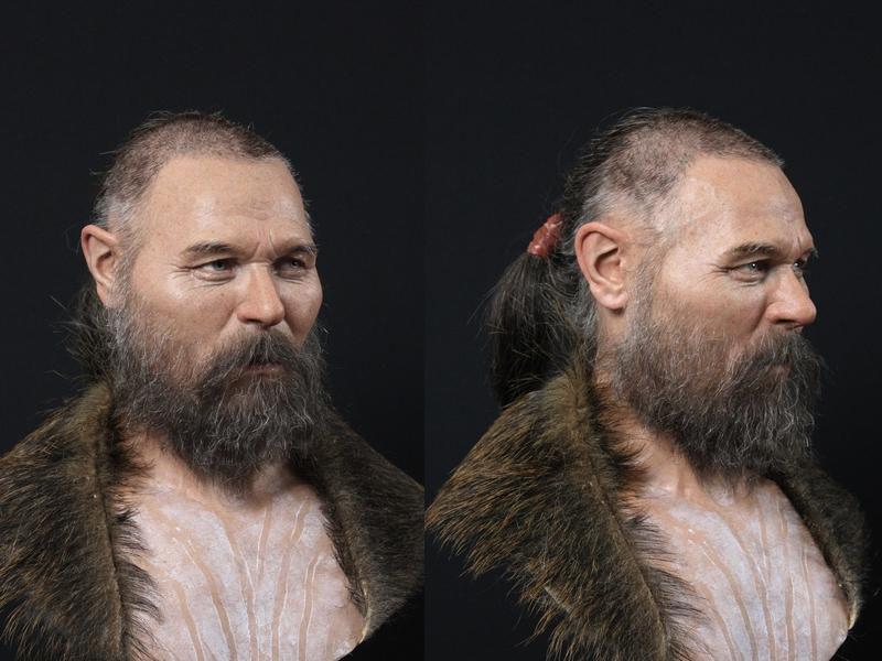بازسازی چهره مرد 8 هزار ساله چشم آبی و موقهوه ای