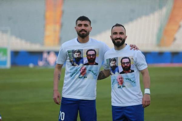 تصویر پرسپولیسی ها روی پیراهن دو بازیکن استقلال (عکس)